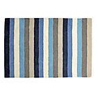 4' x 6' Blue Stripe Rug.