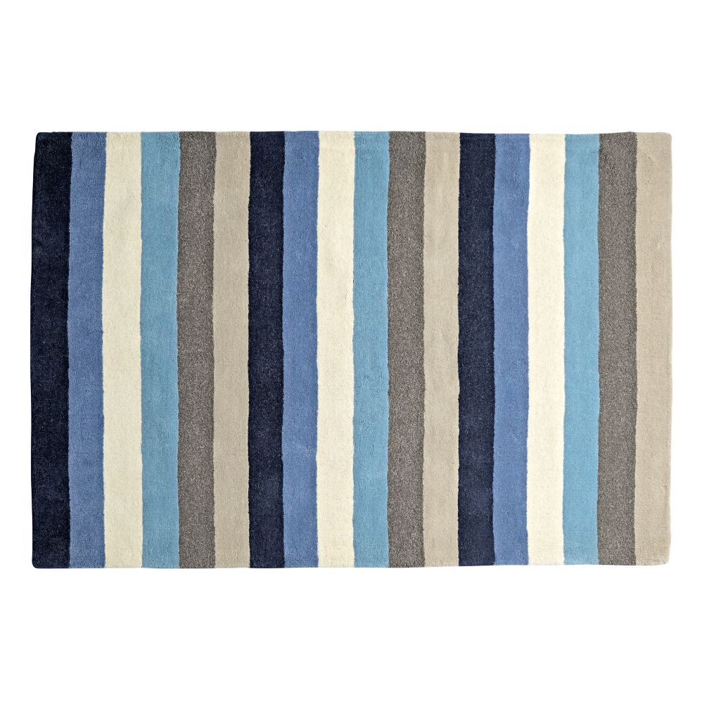 5' x 8' Blue Stripe Rug