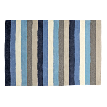 Blue Stripe Kids Rug - 4 x 6 Blue Stripe Rug