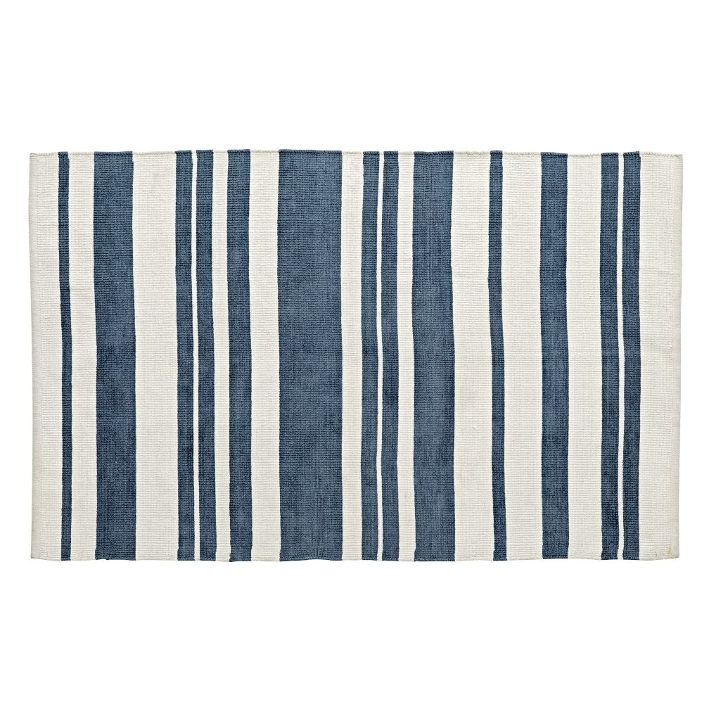 Barcode Blue Rug
