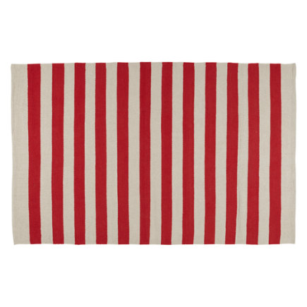 Big Band Striped Kids Area Rug (red) - 4 x 6 Red Big Band Rug