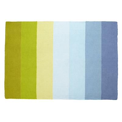 5 x 8' Broad Stripe Rug (Blue-Green)