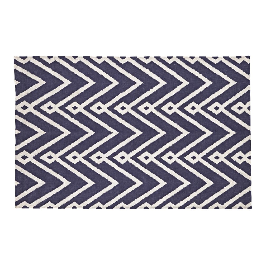 Chevron Twist Rug (Navy)