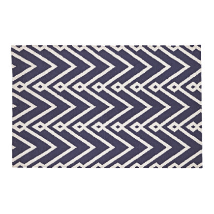 4 x 6 Navy Chevron Twist Rug