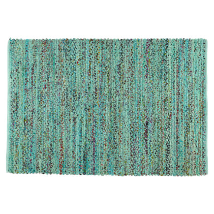 Color Fusion Recycled Kids Area Rug (Blue) - 4 x 6 Blue Color Fusion Rug