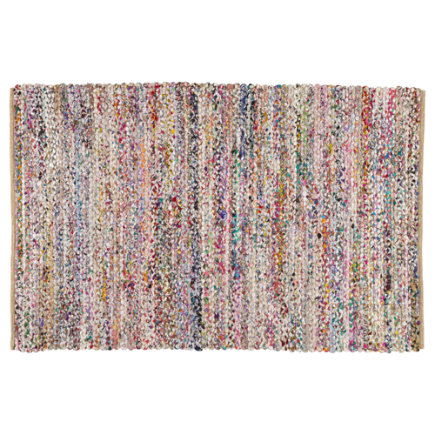 Color Fusion Recycled Kids Area Rug (Pink) - 4 x 6 Pink Color Fusion Rug