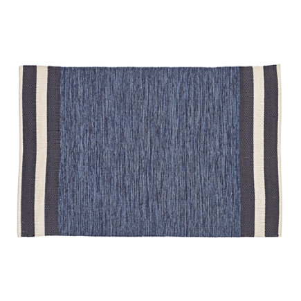 4 x 6 Blue Defined Lines Rug