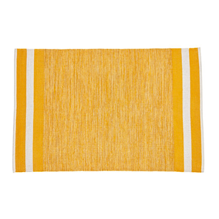 4 x 6 Yellow Defined Lines Rug