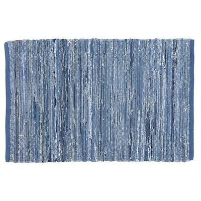 5 x 8' Lt. Blue Floor Cut Rag Rug