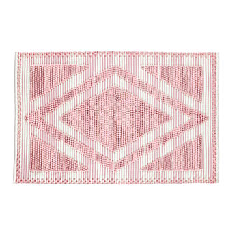 4 x 6' Diamond in the Rug (Pink)