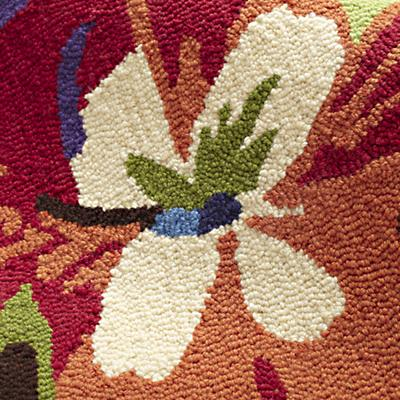 Poppies and Pansies Rug Swatch