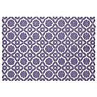 Purple Swatch Garden Trellis Rug