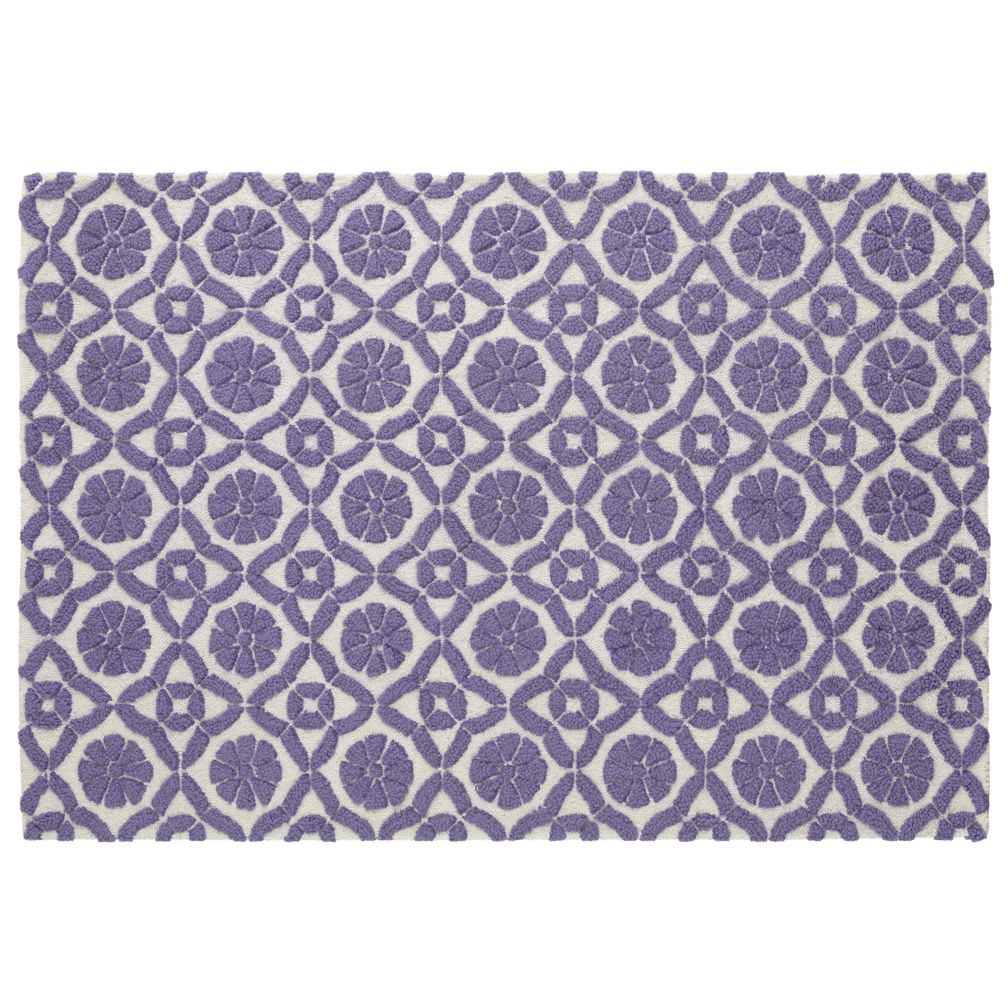 Purple Garden Trellis Rug Swatch