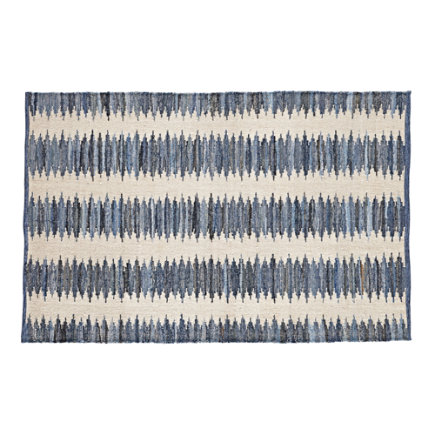 4 x 6 Folk Denim Rug