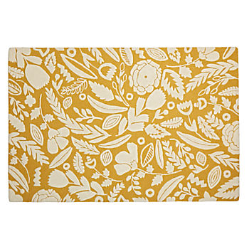 5 x 8' Forest Floor Yellow Rug