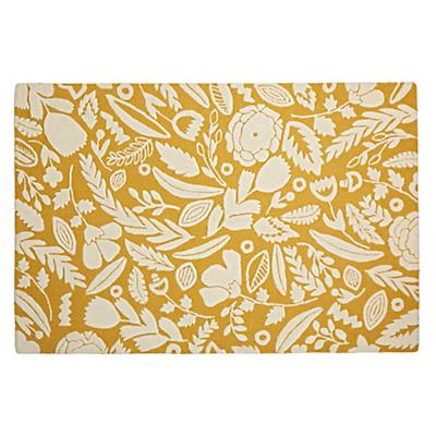 8 x 10' Forest Floor Yellow Rug