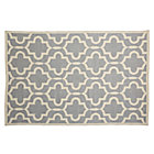 4 x 6' Fretwork Grey Rug