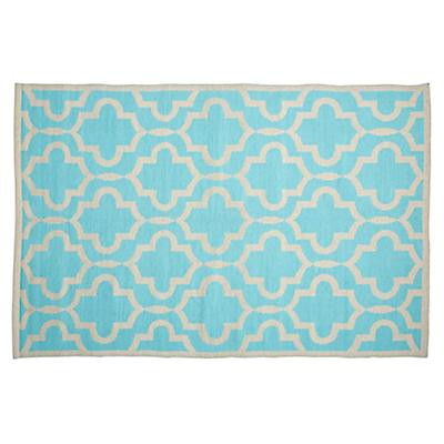 5 x 8' Fretwork Mint Rug