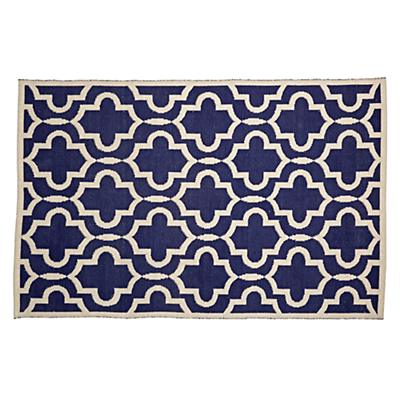 8 x 10' Fretwork Navy Rug