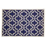 Fretwork Navy Rug