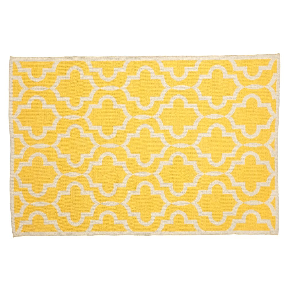 4 x 6' Fretwork Yellow Rug