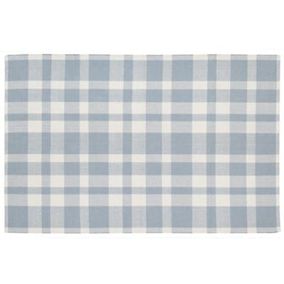4 x 6' Pastel Plaid Rug (Blue)