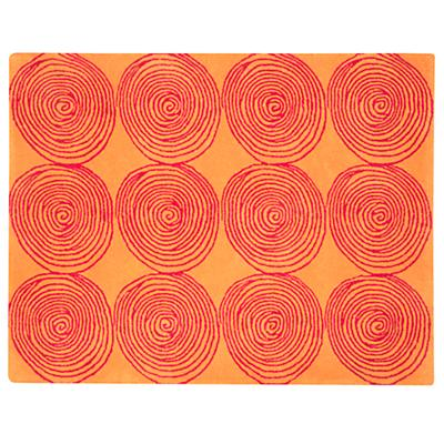4 x 5'  Honey Bun Rug (Orange)