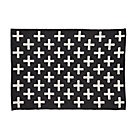 4 x 6' Black Indoor Outdoor Rug