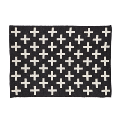 4 x 6 Black Indoor Outdoor Rug