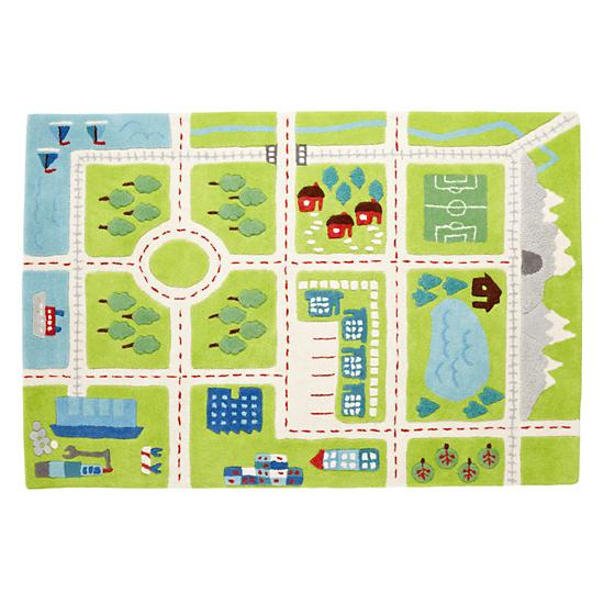 Kids Rugs Kids Town Activity Rug Features Roads Trees