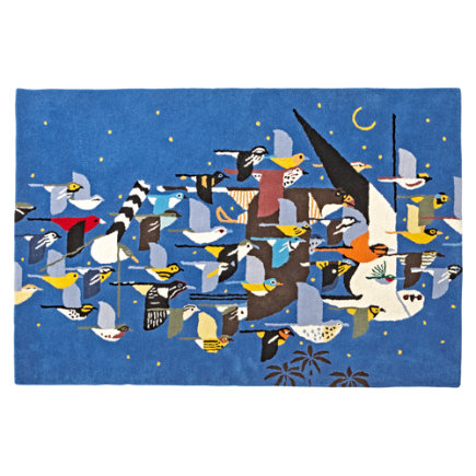 4 x 6 Charley Harper Flock of Birds Rug