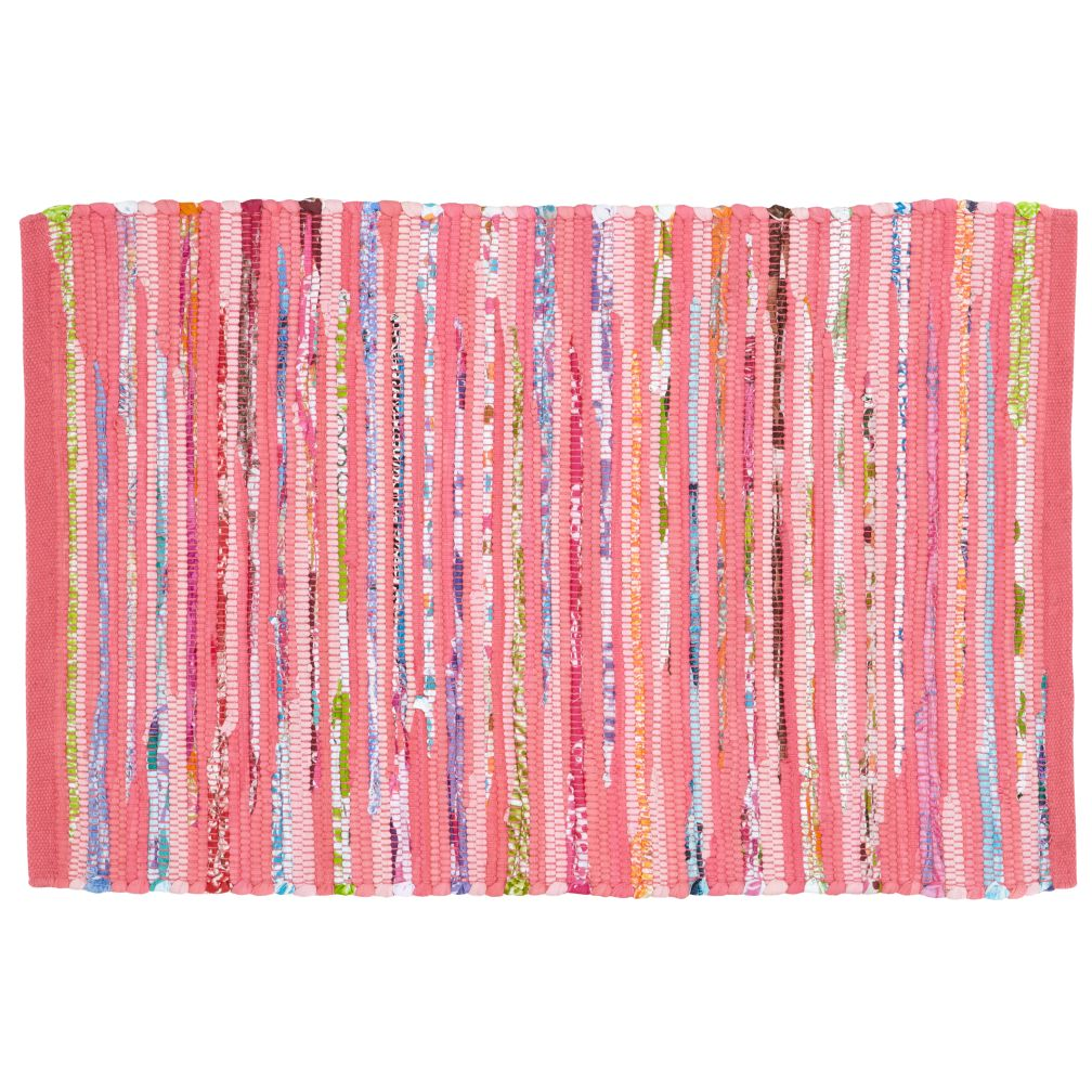 Kids Rugs: Kids Pink Recycled Cotton Rug
