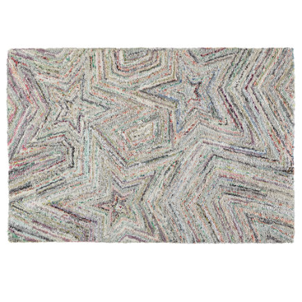 Seeing Stars Recycled Kids Area Rug - 4 x 6 Seeing Stars Rug