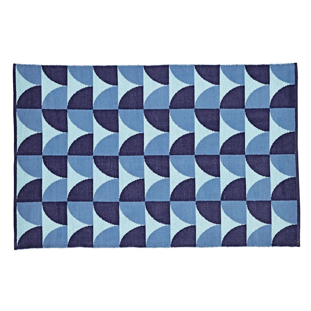 Semi Scallop Rug (Blue)