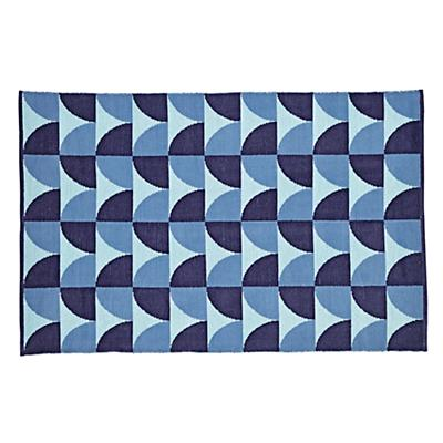 5 x 8' Semi Scallop Rug (Blue)