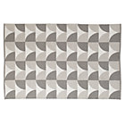 5 x 8' Grey Semi Scallop Rug