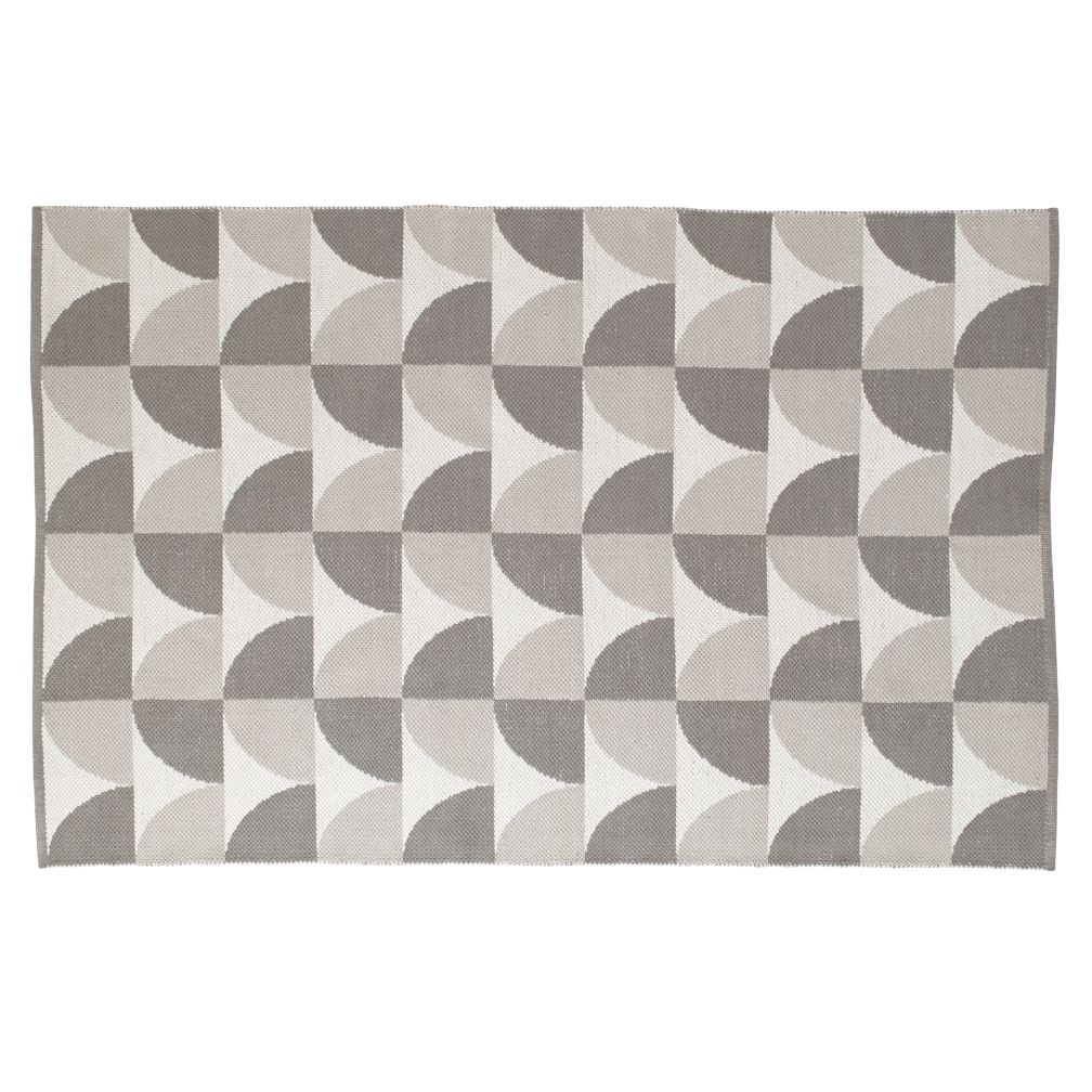 4 x 6' Semi Scallop Rug (Grey)