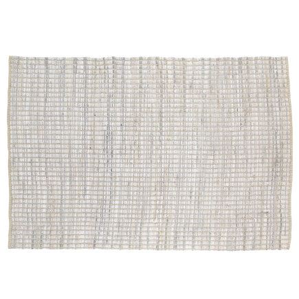 Kids Rugs: Cream Braided Handwoven Rug - 4 x 6 White Rags to Riches Rug