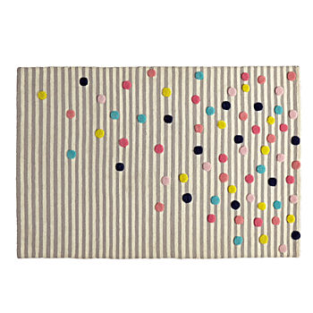 5' x 8' Sprinkled Stripes Rug
