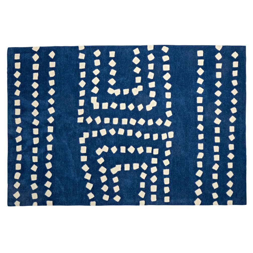 5 x 8' Square Drops Blue Rug