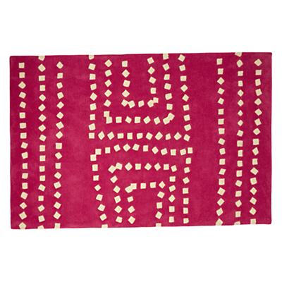 4 x 6' Square Drops Pink Rug
