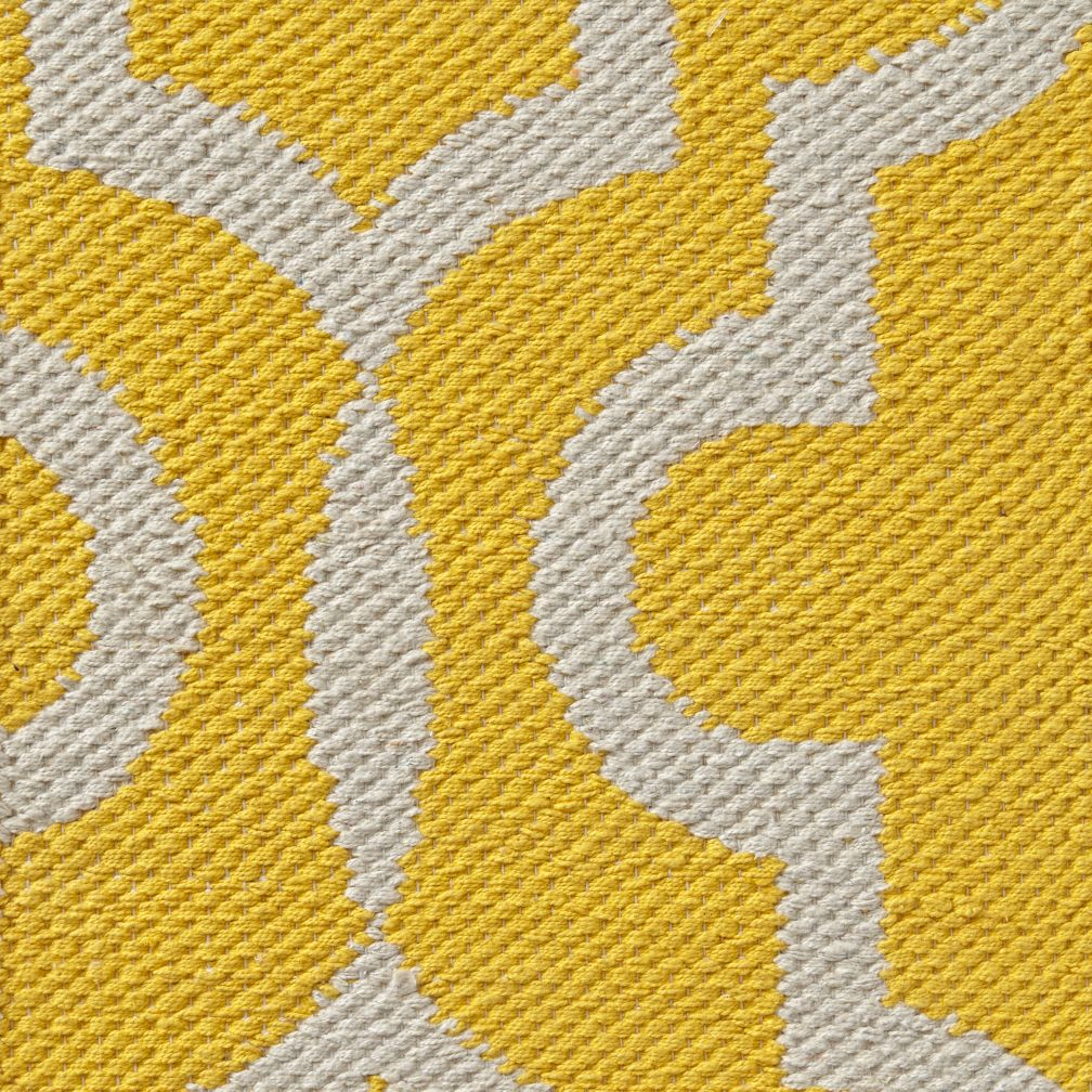 Fretwork Yellow Rug Swatch