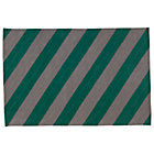 5 x 8' Green Stripe Tailored Rug