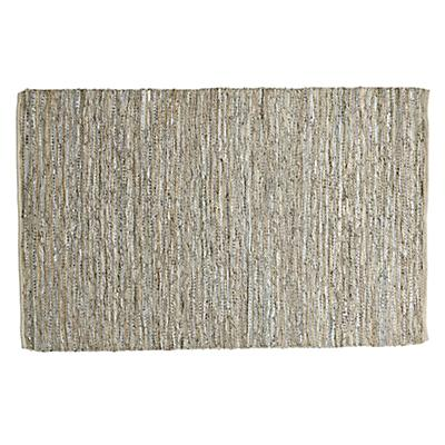 8' x 10'  Woven Leather Rug