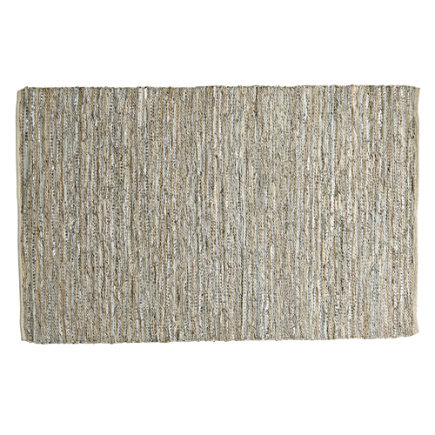 Woven Leather Kids Rug - 4 x 6 Woven Leather Rug