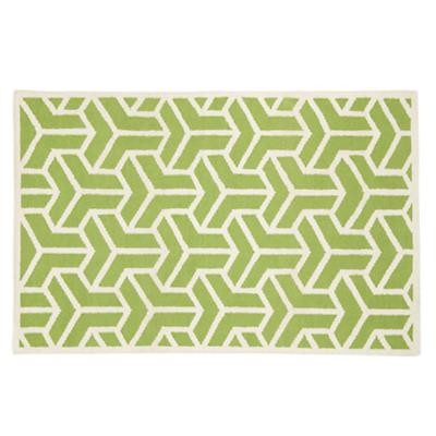 4 x 6' Crow's Feet Rug (Lt. Green)