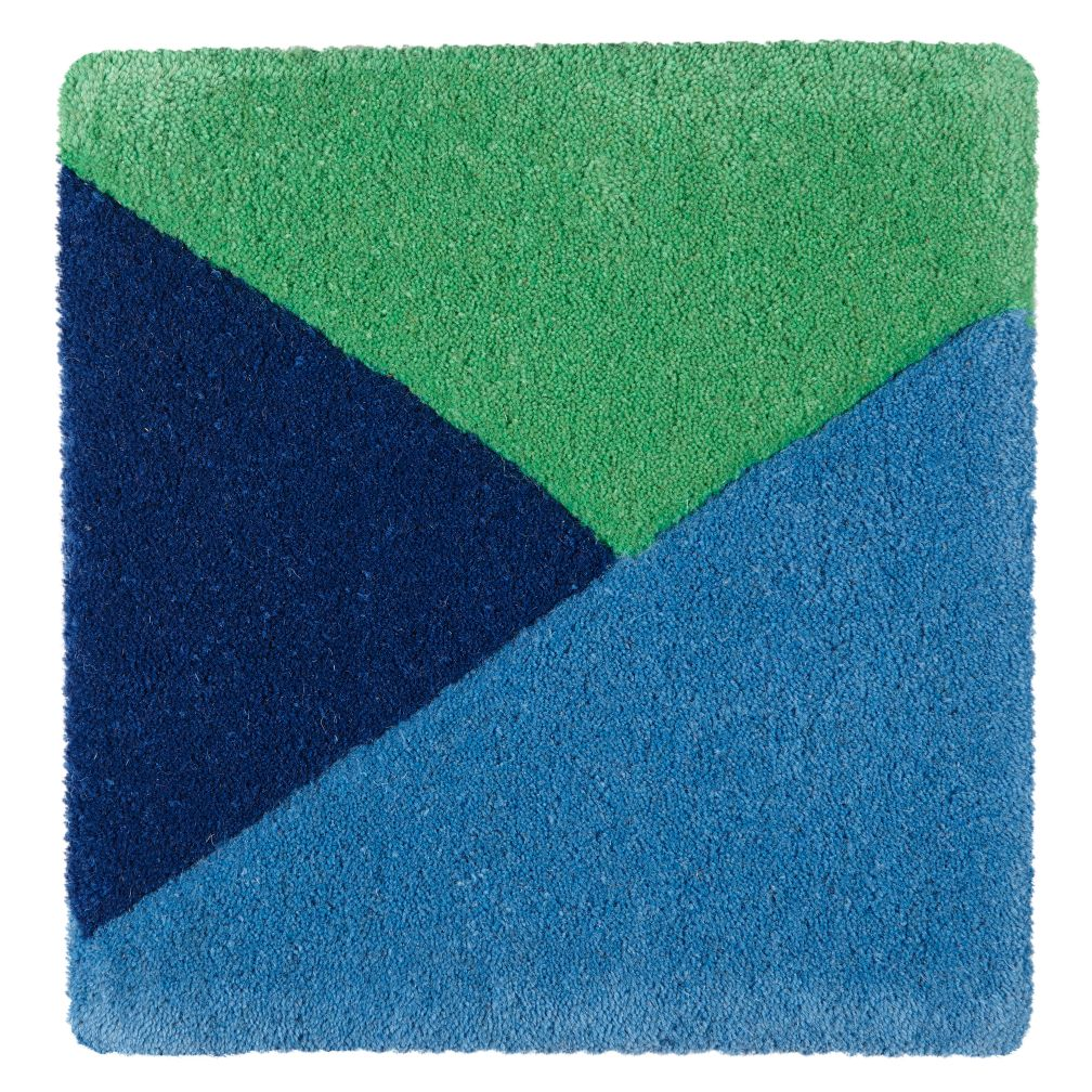 Blue Rad Rug Swatch