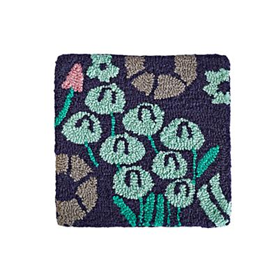 Local Flora Rug Swatch (Blue)