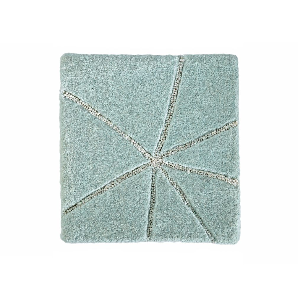 Crystal Mosaic Rug Swatch (Mint)