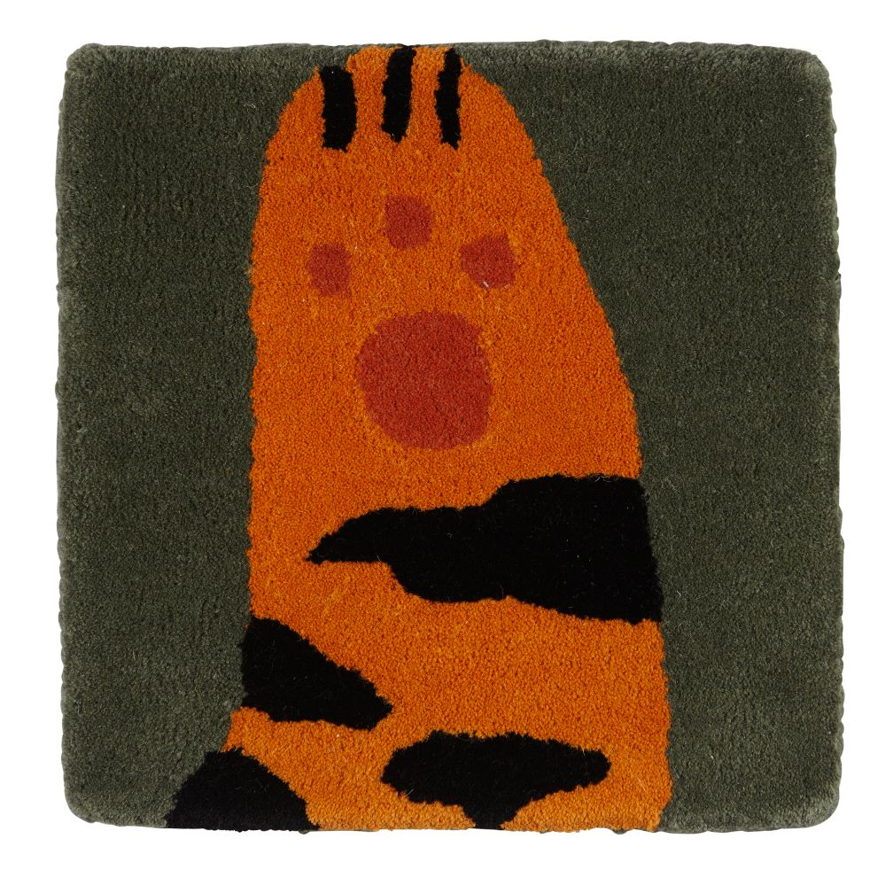 Don't Feed the Rug Swatch (Tiger)